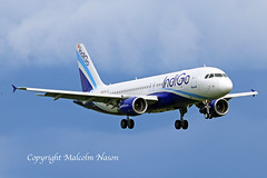 A320-214 OE-IGT GECAS in INDIGO colours (shanairpic) Tags: jetairliner passengerjet a320 airbusa320 shannon gecas indigo oeigt