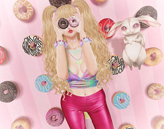 Donut Worry (Gabriella Marshdevil ~ Trying to catch up!) Tags: sl secondlife kawaii cute spirit foxwood ayashi movement