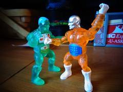 Micro Battle (ridureyu1) Tags: microman adventurepeople xray btw wrestling battletribes thesavagerealmofbattletribes spymonkeycreations glyoscompatible toy toys actionfigure toyphotography sonycybershotsonycybershotdscw690
