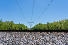 High Voltage Power Lines (J McCallister) Tags: train tracks highvoltage powerlines railroad traintracks