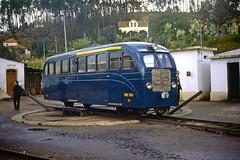 CP ME55, Sernada do Vouga, 25 February 1973 (filhodaCP) Tags: cp comboiosdeportugal vougaline linhadovouga dão metregauge metergauge narrowgauge viaestreita viametrica museuferroviário caminhodeferro portugalrailways diesel railcar railbus automotora