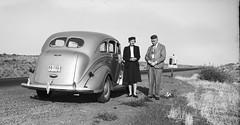 On the Way - Vintage Negative (Photo Alan) Tags: vancouver canada blackwhite blackandwhite monochrome car people film negative vintage