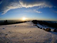 Aurore au Mont Aigoual, 1567 m, Gard, France (laudato si) Tags: explore sun soleil neige snow mountain montagne paysage landscape fisheye 75mm samyang aigoual aurore sunrise