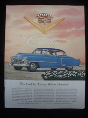 1952 Cadillac 4 Door Sedan USA Original Magazine Advertisement (Darren Marlow) Tags: 1 2 5 9 19 52 1952 c cadillac s sedan car cool collectible collectors classic chrome f fins a automobile g m gm general motors u us usa uited states american america 50s