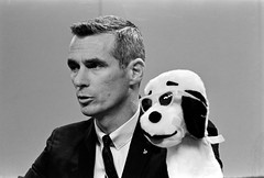 Cernan and Snoopy at Press Conference (NASA on The Commons) Tags: snoopy cernan apollo10 pressconference