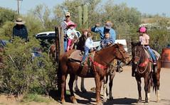 The Trail Riders -- Tucson Mountain Stables, Tucson, Arizona [Lou Feltz] (deserttoad) Tags: arizona nature landscape desert cactus mountain clouds recreation horse