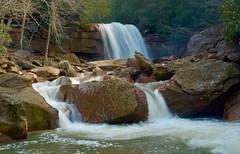 Douglas Falls (richardsscenery) Tags: waterfall water rocks creek westvirginia almostheaven trees forest stream rockystream mountains woods