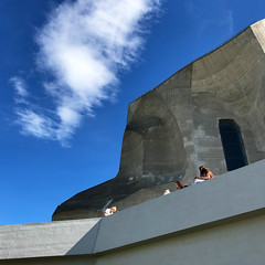 temporary pleasure (Rosmarie Voegtli) Tags: dornach architecture goetheanum anthroposophy learning studying sky youth clouds odc ourdailychallenge temporary