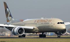 Etihad Airways Boeing 787-9 Dreamliner A6-BLT (RuWe71) Tags: etihadairways eyetd etihad uae unitedarabemirates abudhabi boeing boeing787 b787 b789 b7879 boeing7879 boeing7879dreamliner a6blt cn39667692 n1014x amsterdamschiphol amsterdamschipholairport schiphol schipholairport schipholamsterdam ams eham polderbaan widebody twinjet landing runway beacon jetwash