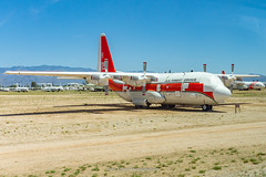 US Forest Service HC-130H Hercules 119 (Mark_Aviation) Tags: us forest service hc130h hercules 119 c130 c130h hc130 fire fighter bomber water amarc amarg storage boneyard davis monthan air force base afb tucson arizona pima space museum oldest military jet aircraft
