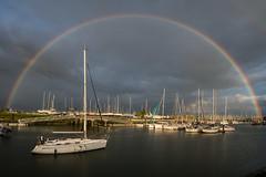 Unter the rainbow (de_frakke) Tags: mailing nieuwpoort noordzee belgium port jachthaven regenboog rainbow avond evening