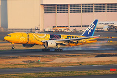 ANA Boeing 777-281/ER JA743A (Mark Harris photography) Tags: spotting hnd japan aviation plane boeing 777