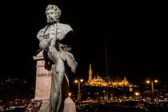 Statue and Castle (BisonAlex) Tags: europe 歐洲 sony a73 a7iii a7m3 a7 taiwan 台灣 外拍 旅拍 travel 街拍 street streetphoto streetshot hungary budapest 匈牙利 布達佩斯 night 夜拍 夜晚