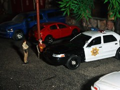 Sheriff's log 4-27-2019 (THE RANGE PRODUCTIONS) Tags: greenlight matchbox honda ram1500 diecast dioramas diecastdioramas dodge fordcrownvictoriapoliceinterceptor 164scale hoscalefigures model toy modular