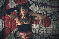 Christel (www.michelconrad.fr) Tags: bleu rouge vert canon eos6d eos 6d ef24105mmf4lisusm 24105mm 24105 femme modele portrait jupe minijupe urbex rose chapeau tatouage grafiti