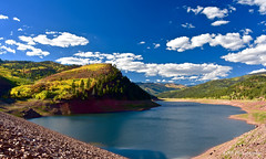 Lemon Reservoir, Colorado (GSB Photography) Tags: lemon reservoir durango colorado america usa unitedstates americanwest mountain valley sunlight rocks trees foliage sky clouds ridge dam water lake vista view nature landscape nikon 7200 forest gsb legacy