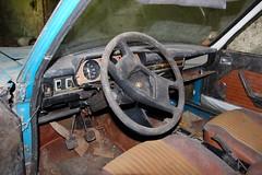 Tableau de bord (Raphael Drake) Tags: abandonne abandoned urbex rurex decay decayed maison house grange barn peugeot 504 car wreck voiture epave