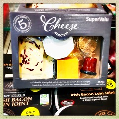 Cheese Selection (Julie (thanks for 9 million views)) Tags: 100xthe2019edition 100x2019 image54100 smileonsaturday saycheese food advertising packaging hipstamaticapp iphonese wallacessupervalu squareformat ireland irish wexford cheddar brie chutney wensleydale bacon