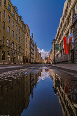After the rain (Vagelis Pikoulas) Tags: rain reflection water canon 6d tokina 1628mm landscape city cityscape architecture day gdansk poland europe travel holidays april spring 2019 urban