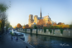 Quai de la Tournelle (marko.erman) Tags: paris france cathedral church monument architecture beautiful seine river sunny sun automn sony people popular pov saintlouis bridge unesco iledelacité worldheritagesite notredame quaidelatournelle