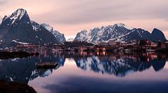 Reine evening (rafareceputi) Tags: lofoten lofotenislands norway norge lanscape seascape seashore mountains mountainsandsea reine