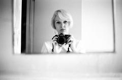 (SamBHart) Tags: reflection self mirror 35mmfilm bwfilm newyorkcity newyork bw blackandwhite nikonfm2 35mmlens trix brooklyn