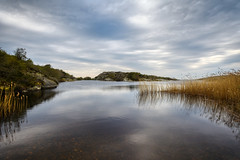 West Coast Lake (henriksundholm.com) Tags: landscape nature lake water reflections reed clouds sky hdr coast västkusten bohuslän marstrand kungälv daylight waterscape sverige sweden
