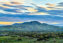 Mighty Squaw Butte (http://fineartamerica.com/profiles/robert-bales.ht) Tags: forupload gemcounty haybales idaho landscape people photo places projects states spring mountain emmett sweet sunrise squawbutte farm rollinghills scenic idahophotography treasurevalley clouds emmettvalley emmettphotography trees sceniclandscapephotography thebutte canonshooter beautiful sensational awesome magnificent peaceful surreal sublime magical spiritual inspiring inspirational wow stupendous robertbales town butte valley greetingcard highway16