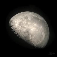 The Moon (joyhhs) Tags: moon astrophotography iphone telescope usa california canon on1 photography