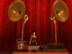 And Thus The Transducer Recreates The Sounds (Cherie Langer) Tags: steampunk inventor invention demonstration science