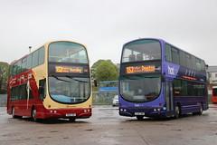 The Blackburn Bus Company 100 R100 TDV Ready for service. (Gobbiner) Tags: ribble100 transdev intackdepot 100 r100tdv hotline 152 burnley preston blackburn 2761 pj05zwh theblackburnbuscompany 401 yj04lyg