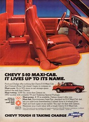 1984 Chevrolet S-10 Maxi Cab 2WD & 4WD Pickup Truck American Motors AMC USA Original Magazine Advertisement (Darren Marlow) Tags: 1 2 4 8 9 19 84 1984 c chevrolet s s10 m maxi cab p pickup t truck car cool collectible collectors classic a automobile v vehicle u us usa united states american america 80s