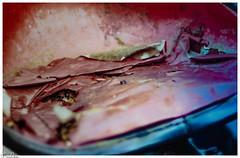 Das Alter hinterlässt Spuren / The age leaves traces (Reto Previtali) Tags: industrie technik traktor landwirtschaft deutschland color farben nikon nahaufnahme macro flickr digital rot red bauer nahrungsmittel lebensmittel rost coth5 art outdoor eisen leder schweiz old alt oldtimer zeit time design johndeere landtechnik landmaschienen umwelttechnik