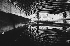 Any of my flickr friends on insta? you can join me @zesk_mf (Zesk MF) Tags: bw black white mono street candid streetphotography zesk cologne puddle water spiegelung underpass x100f fuji