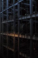 aging room, Hakushu Distillery, Yamanashi, Japan (Plan R) Tags: barrel rack aging room whisky hakushu distillery leica m 240 noctilux 50mm
