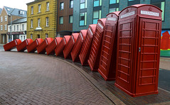 """Out of Order"", London (Jolita Kievišienė) Tags: red telephone box boxes london uk united kingdom great britain outoforder sculpture david mach kingston upon thames phone"