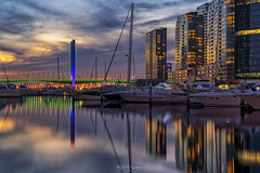 _DSC3238 copy (kaioyang) Tags: docklands twilight sony a7r3 sonyfe24105mmf4g reflections boltebridge