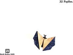 A5 Papillon - Barth Dunkan. (Magic Fingaz) Tags: butterfly papillon origamibutterfly origami barthdunkan ecorigami ผีเสื้อ schmetterling 蝴蝶 나비 mariposa バタフライ borboleta бабочка mfpp paperfolding paperart