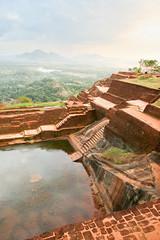 Sigiriya Rock (Ralph Apeldoorn) Tags: castle fortress palace pond ruin srilanka sigiriya matale