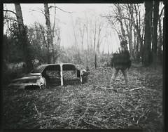 Gone (micalngelo) Tags: analog papernegative contactprint pinhole largeformatpinhole 4x5pinhole montana oldcar toycamera toycameraphotography lomography lomojunkie