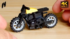 How to Build Lego Scrambler Motorcycle (MOC - 4K) (hajdekr) Tags: lego buildingblocks assemblyinstructions guide buildingguide tuto tutorial tip help tips stepbystep inspiration design manual moc myowncreation instruction instructions toy model buildingbricks bricks brick builder buildingtoy moto motorbike electric zero motorcycle wheel transport vehicle jackstone minifigure minifig figure race racing racer supersport scrambler terrain cross chassis 18896 clip handle modified 35480 rounded howto