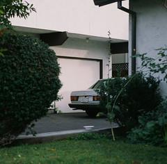 Santa Clara, California (bior) Tags: hasselblad500cm provia100f provia hasselblad mediumformat 120 6x6cm square santaclara mercedes turbodiesel house suburbs residential car driveway