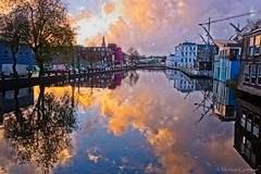 The Mirror of Cork - HSS Version (Michael Guttman) Tags: riverlee cork ireland sunset river calmwater hss sliderssunday reflections mirror watermirror