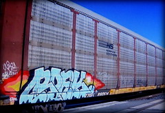 (timetomakethepasta) Tags: roek bhb var freight train graffiti art ns autorack norfolk southern