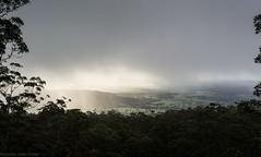 from the Goat Track (dustaway) Tags: landscape australianlandscape sequeensland tamborinemountain albertvalley cloudscape cloudcap afternoonlight forest mounttamborine queensland australia view valley