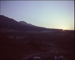 (✞bens▲n) Tags: mamiya 7ii velvia 100f 80mm f4 film analogue 6x7 reversal japan gunma landscape mountains sunset