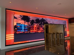 LED Board 100 Biscayne Downtown Miami (Phillip Pessar) Tags: 100 biscayne lobby downtown miami 35 ft led board renovation south beach art deco