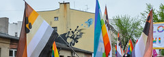 mural & flags (rafasmm) Tags: łódź lodz poland polska europe flag mural outdoor march equality color art street streetphoto streetlife streetart streetphotography streets streetscene nikon d90 nikkor 18105 afs
