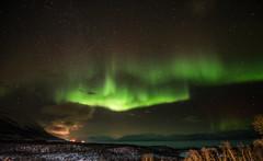 Abisko Aurora (Bernie Totten) Tags: abisko aurora sweden arcticcircle snow