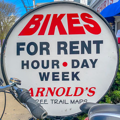 Bikes for Rent (Timothy Valentine) Tags: squaredcircle bicycle 0419 large capecod sign 2019 ptown provincetown massachusetts unitedstatesofamerica